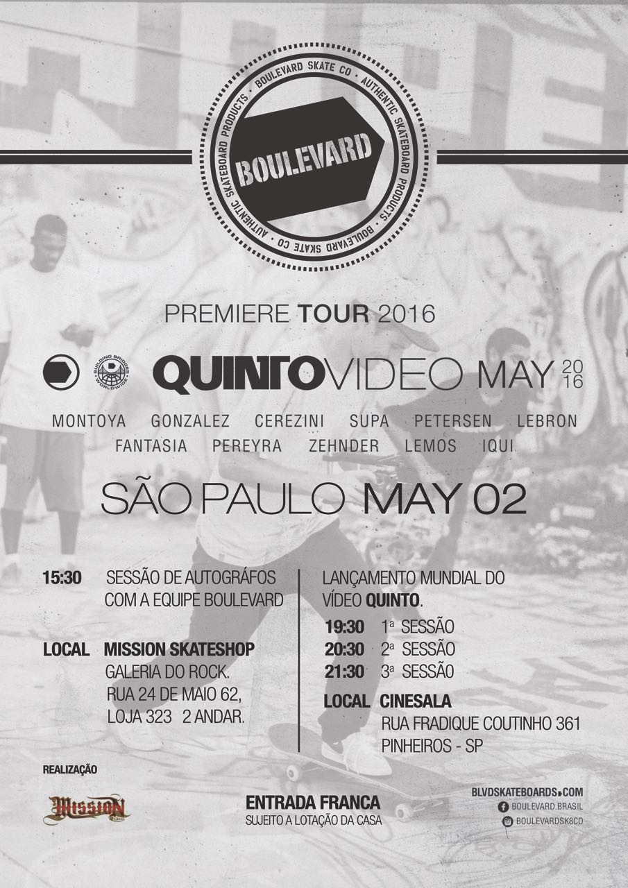"Mission skate shop apresenta ""Quinto Video"""